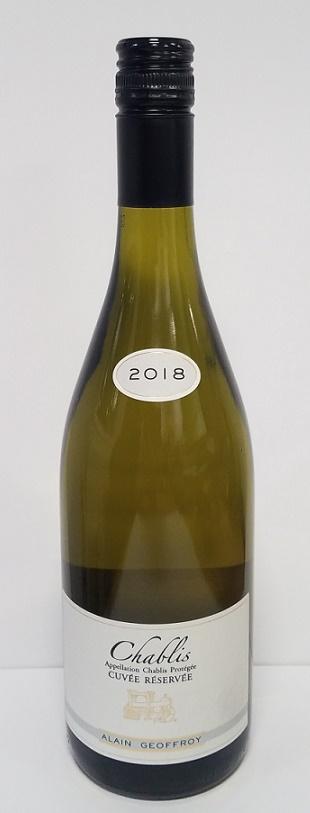 Chablis Cuvée Réservée, Alain Geoffroy 2018